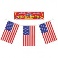 USA 4th July Patriotic Square Flag Plastic Bunting