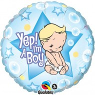 Yep I'm a Boy Baby Shower Balloon