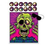 Pin the Eyeball on the Zombie Party Game