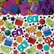 60th Birthday Dots & Stripes Large Table Confetti