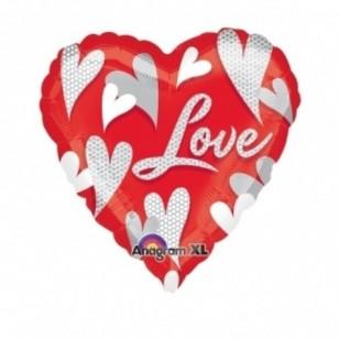 Love Hearts Holographic Balloon