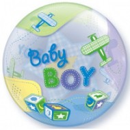 Baby Boy Airplanes & Stitches Bubble Balloon
