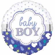 Baby Boy Scallop Design Balloon