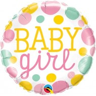 Baby Girl Dots Balloon