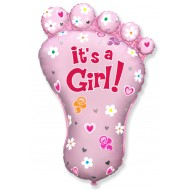Baby Shower It's A Girl Baby Foot Balloon