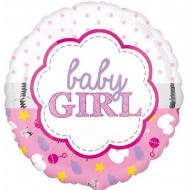 Baby Girl Scallop Design Balloon