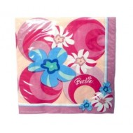 Barbie Pink Flower Napkins