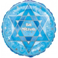 Blue Bat Mitzvah Balloon