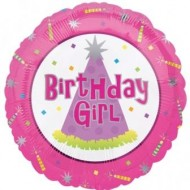 Birthday Girl Pink Balloon