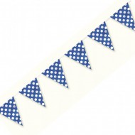 Blue Polka Dot Plastic Party Bunting