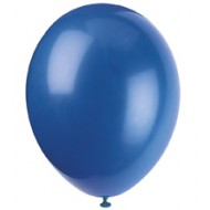 Evening Blue Latex Balloons x10