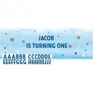Twinkle Little Star Blue Personalisable Giant Banner