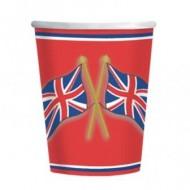 Great British Party Britannia Paper Cups