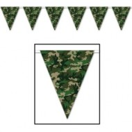 Camo Army Camouflage Military Party Pennant Bunting