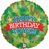 Army Camouflage Military Happy Birthday Balloon