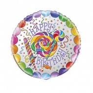 Candy Lollipop Happy Birthday Balloon
