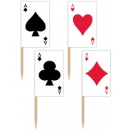 Casino Playing Card Food Picks