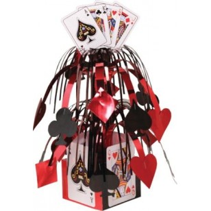 Casino Playing Cards Mobile Table Centrepiece