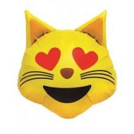 Emoji Heart Eyes Cat Face Balloon