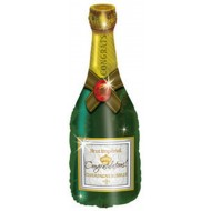 Congratulations Champagne Bottle Large Balloon