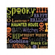Chills and Thrills Halloween Drinks Napkins