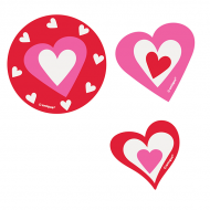 Love Hearts Confetti Card Cutouts
