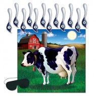 Pin the Tail on the Cow Farmyard Game