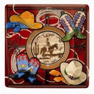 Cowboy Western Square Dance Plates