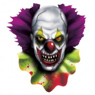 Creepy Carnival Halloween Clown Cutout