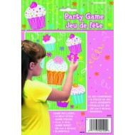 Pin The Flower on the Cupcake Party Game