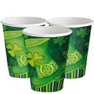 St Patrick's Day Irish Lucky Stripes Cups