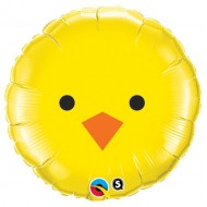 Easter Chick Face Balloon