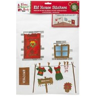 Elf Behaving Badly Christmas House Stickers