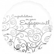 Congratulations On Your Engagement Filigree Balloon