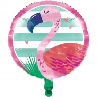 Friendly Flamingo Island Party Foil Balloon