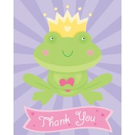 Princess Fairytale Frog Thank You Cards