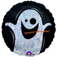 Boo To You Ghost Halloween Balloon
