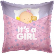 It's A Girl Sleeping Baby Balloon