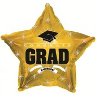 Congrats Grad Graduation Gold Star Balloon