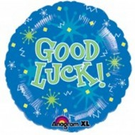 Good Luck Blue Sparks Balloon