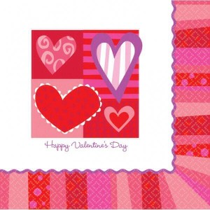 Happy Valentine's Day Napkins