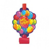 Happy Birthday Blowouts Party Favours