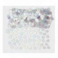 Iridescent Hearts Wedding Table Confetti