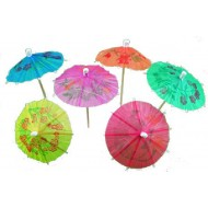 Hibiscus Cocktail Parasols (Pack of 10)