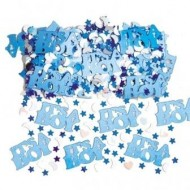 It's a Boy Blue Baby Table Confetti