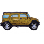 Army Camouflage Jeep Supershape Balloon