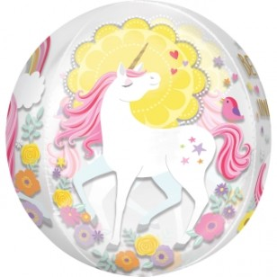 Magical Unicorn Birthday Orbz Balloon