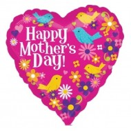 Happy Mother's Day Birds Heart Balloon