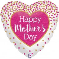 Happy Mother's Day Glittering Confetti Balloon
