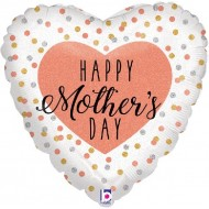 Happy Mother's Day Glittering Rose Gold Balloon